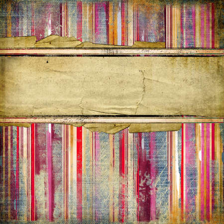 torn jeans: vintage striped  background with place for text  Stock Photo