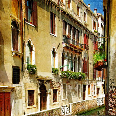 ancient buildings: romantic Venice- painting style series - architecture
