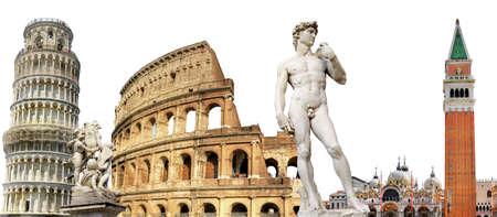 colosseum: greatest italian landmarks, travel background