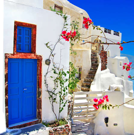 greek islands: Santorini architecture