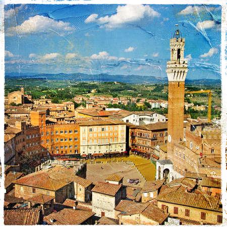 siena: great italian landmarks artistic series -Siena town