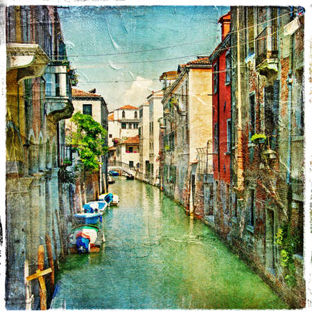 Venetian canals - artistic work in painting style photo