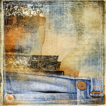 ragged: grungy denim background