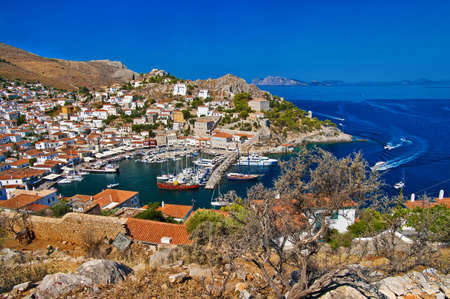 pictorial view of Hydra island - Greece series  photo