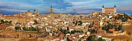 ufortyfikować: starożytny Hiszpania - Toledo miasto, widok panoramiczny