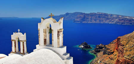 caldera: beautiful white-blue Santorini