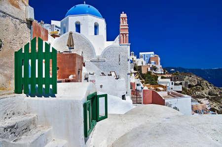 beautiful white-blue Santorini photo