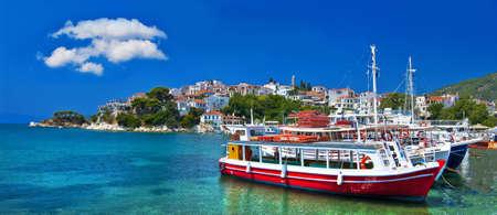 pictorial harbors of small greek islands - Skopelos