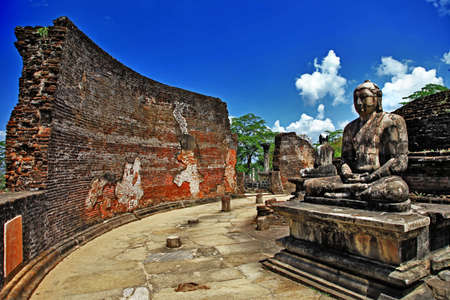 ancient Polonnaruwa temple - medieval capital of Ceylon, photo