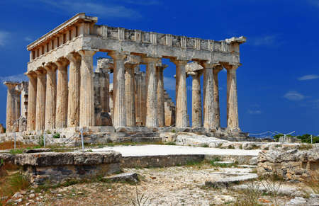 temple of Orfeas in Aegina island, the prototipe of Acropolis photo