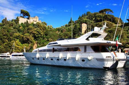 Yachts in Portofino, Italy, ligurian coast