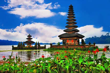 Pura Ulun Danu temple on a lake Beratan  Bali photo