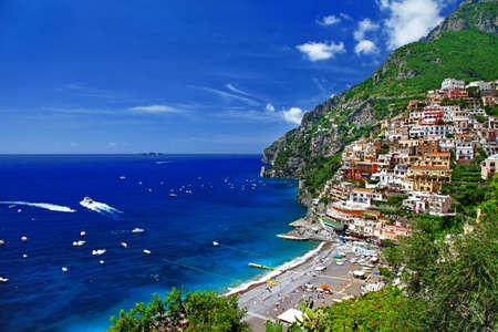 화창한 이탈리아 시리즈 - 포지 타노 스톡 콘텐츠
