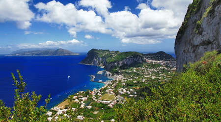bird view: Capri island, bird view