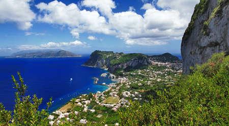 capri: Capri island, bird view