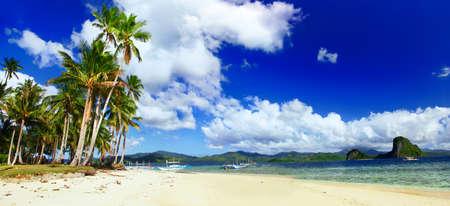 palawan: naturaleza impresionante de islas Filipinas Foto de archivo