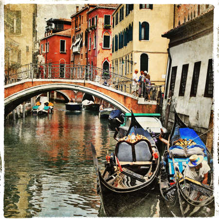 Venetian canals and gondolas