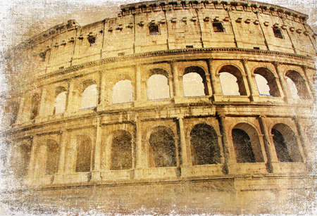 'retro styled': Great Colosseum - artistic retro styled picture Stock Photo
