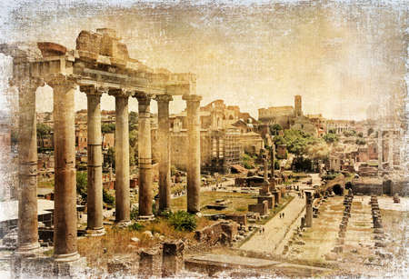 Roman Forums - artistic retro styled picture