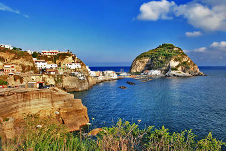 travel in Italy series - view of sant-angelo, Ischia island Stock Photo
