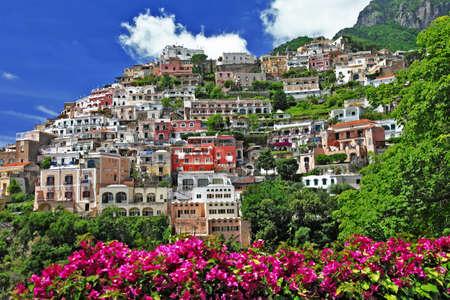 positano: pictorial Positano - sunny Italy series Stock Photo