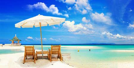 strandstoel: ontspannen tropische vakantie