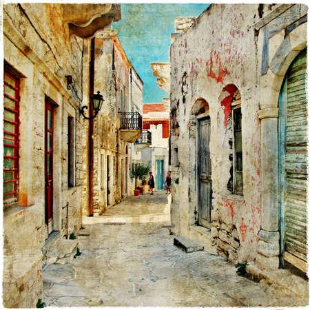 backstreet: charming old greek streets, Naxos island Editorial