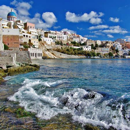 travel in Greek islands - Syros, Cyclades photo