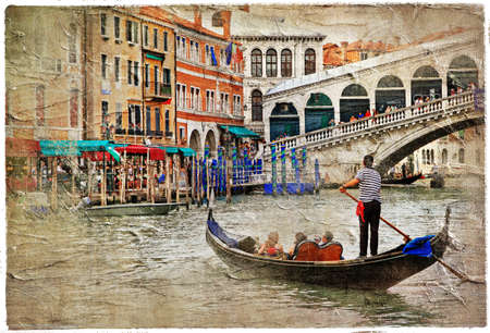 romantic Venice - artwork in painting style photo