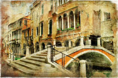 romantic Venice, artwork in painting style Stock Photo - 15322956