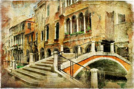 romantic Venice, artwork in painting style Stock Photo - 15322956