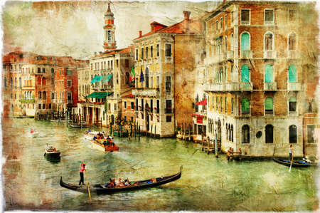 painting style: romantic Venice, artwork in painting style Editorial