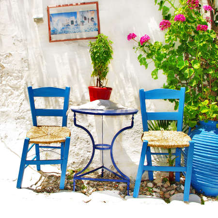 traditional Greece series - vivid tavernas photo