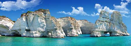 Viajes en griego serie islas - Milos, Cícladas Foto de archivo - 15322949