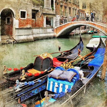 venice gondola: Venice  gondolas  artwork in painting style
