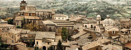 View over Orvieto, a medieval hill town in Umbria, Italy  photo