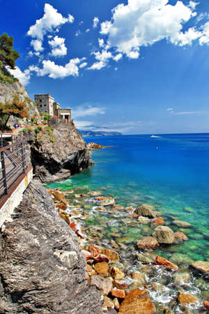 sea of houses: pictorial Italy, Liguria, Monterosso