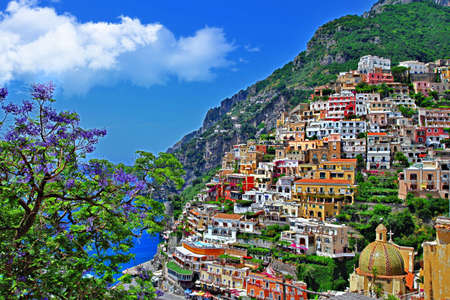 positano: travel in Italy series - Positano Stock Photo