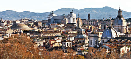 panoramic view from sant Angelo castle of Rome photo