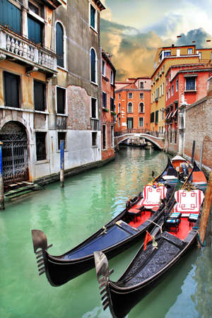 beautiful romantic Venetian scenery  photo
