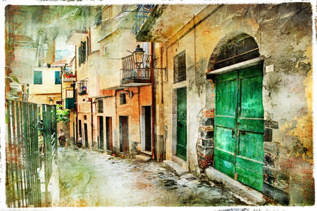 pictorial old streets of Italy, artistic picture Stock Photo