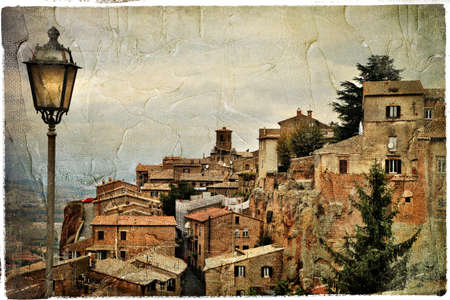 pictorial old streets of Italy, artistic picture in retro style photo