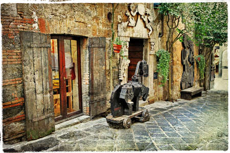 backstreet: pictorial old streets of Italy, artistic picture Stock Photo