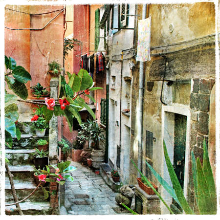 pictorial old streets of Italy, artistic picture  photo