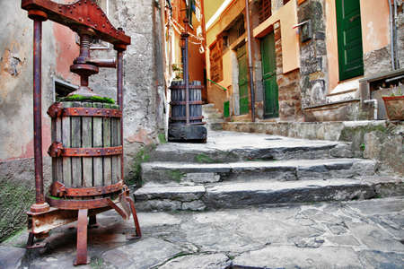 old streets of italian villages  photo