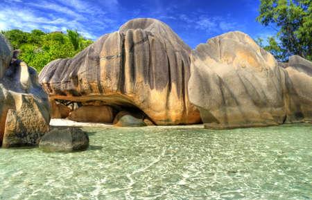 maldives: scenic  tropical nature - amazing Seychelles Stock Photo