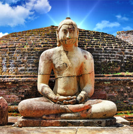 Buddha in Polonnaruwa temple - medieval capital of Ceylon,UNESCO World Heritage Site Stock Photo - 17093518