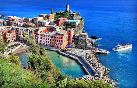 cinque terre: vernazza, fishing village, Italy, Cinque terre