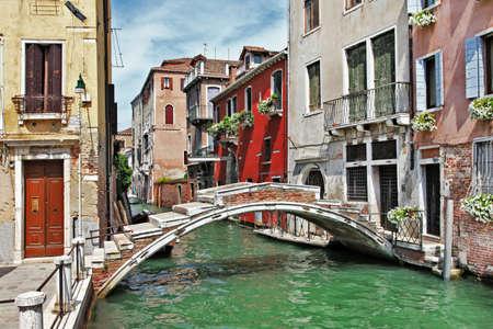 mooie romantische Venetiaanse landschap Stockfoto