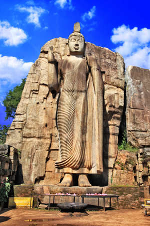 polonnaruwa: greatest buddhistic landmarks - Awukana , Sri lanka  Stock Photo